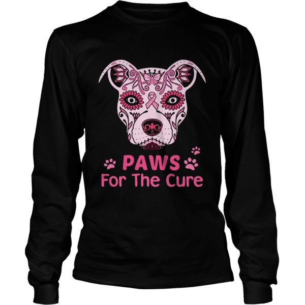 Paws for the cure pit bull poco loco sugar skull breast cancer  LongSleeve