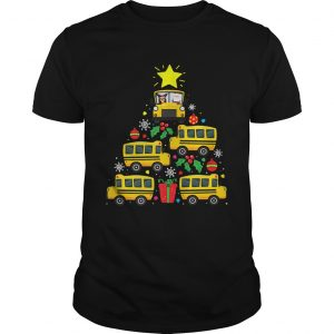 School Bus Driver Christmas Tree Shirt Unisex