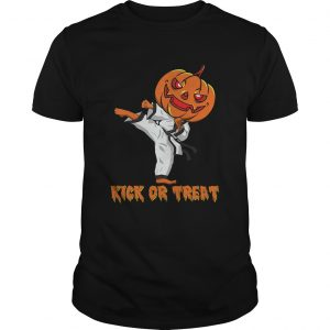 Taekwondo Kick Or Treat Pumpkin Halloween Shirt Unisex