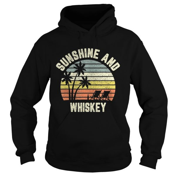 Vintage Sunshine and Whiskey Shirt Cool Retro Summertime TShirt Hoodie