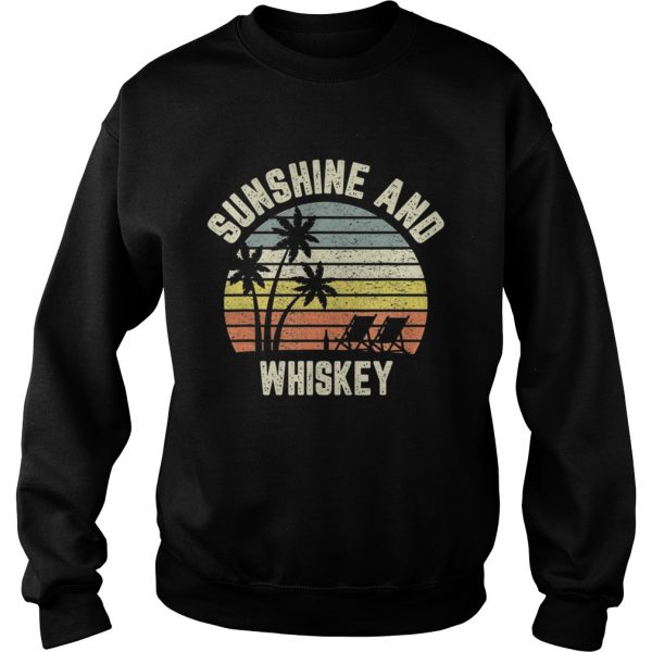 Vintage Sunshine and Whiskey Shirt Cool Retro Summertime TShirt Sweatshirt