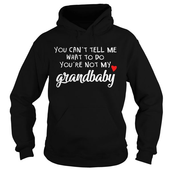 You cant tell me what to do youre not my grandbaby  Hoodie