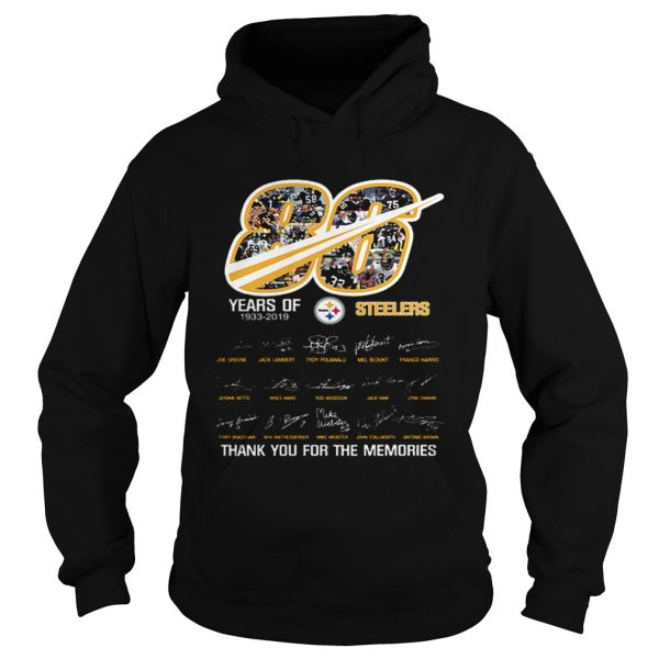86 years of 19332019 Steelers thank you for the memories  Hoodie