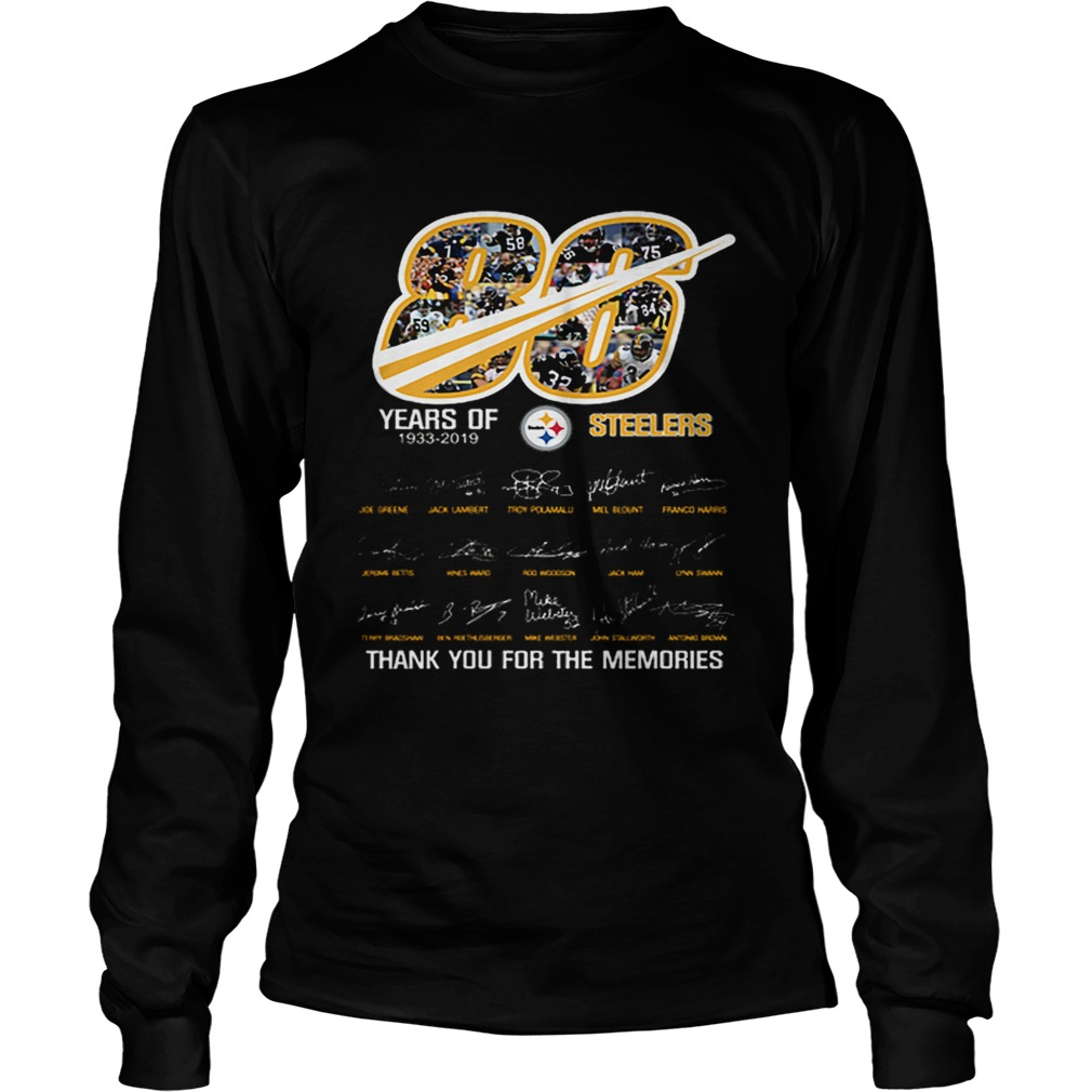 86 years of 19332019 Steelers thank you for the memories  LongSleeve