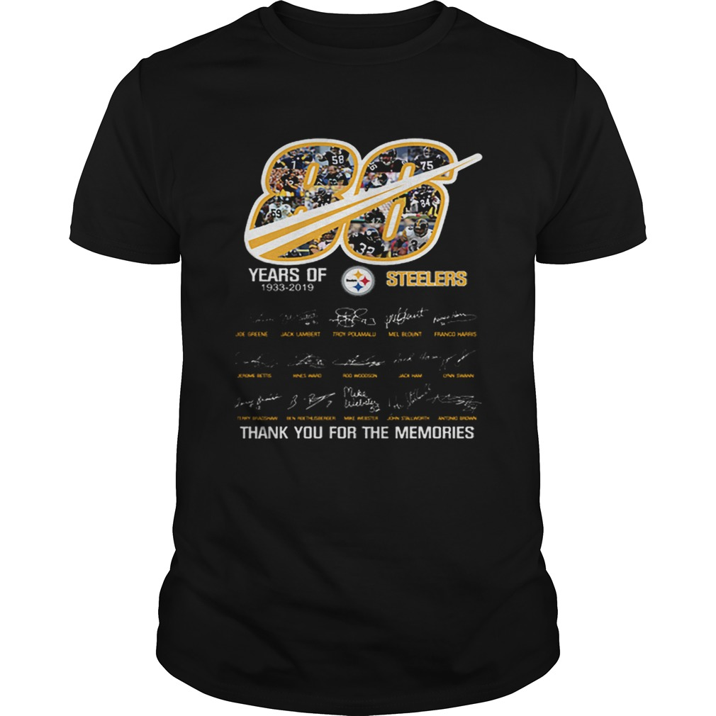 86 years of 19332019 Steelers thank you for the memories  Unisex