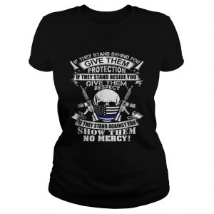 Beautiful Law Enforcement Thin Blue Line Flag Police Christmas  Classic Ladies