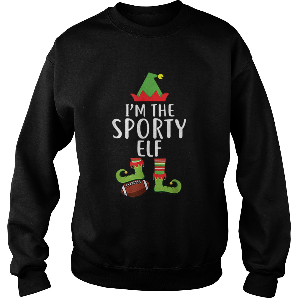 Im The Sporty Rugby Elf Matching Family Christmas  Sweatshirt