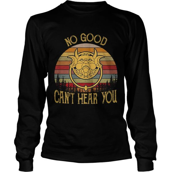 Labyrinth Door Knockers no good cant hear you vintage  LongSleeve
