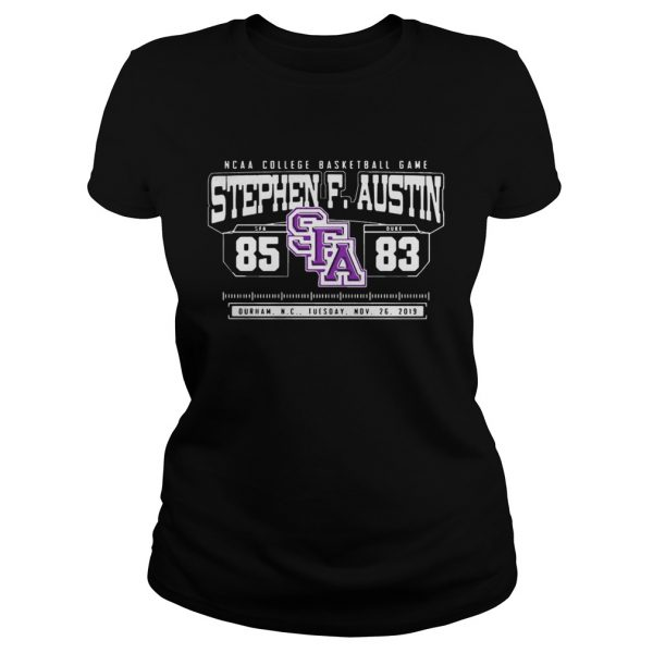 NCAA College Basketball Game SFA Stephen F Austin 85 DUKE 83  Classic Ladies