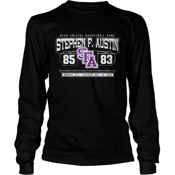 NCAA College Basketball Game SFA Stephen F Austin 85 DUKE 83  LongSleeve