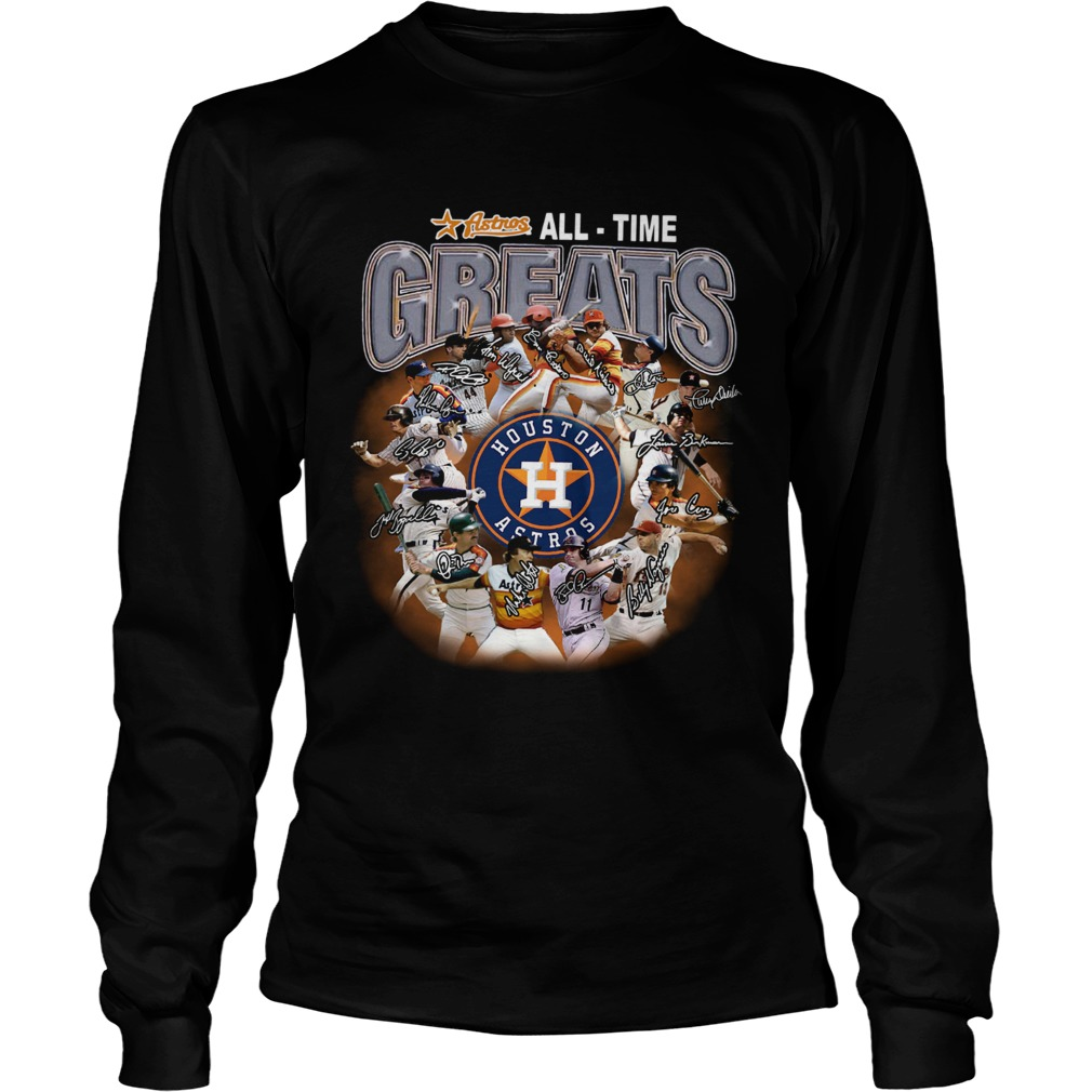 Houston Astros all time greats players signatures  LongSleeve