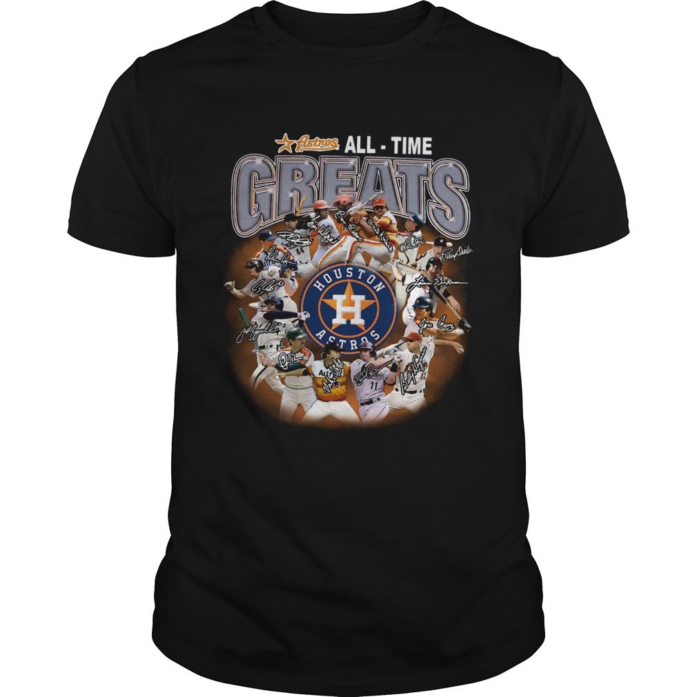 Houston Astros all time greats players signatures  Unisex
