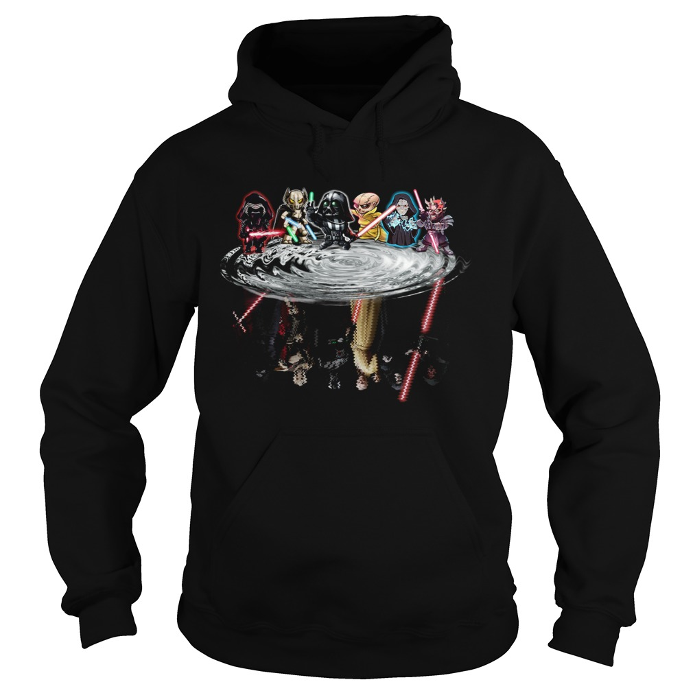 Star Wars Chibi Characters Water Reflections  Hoodie