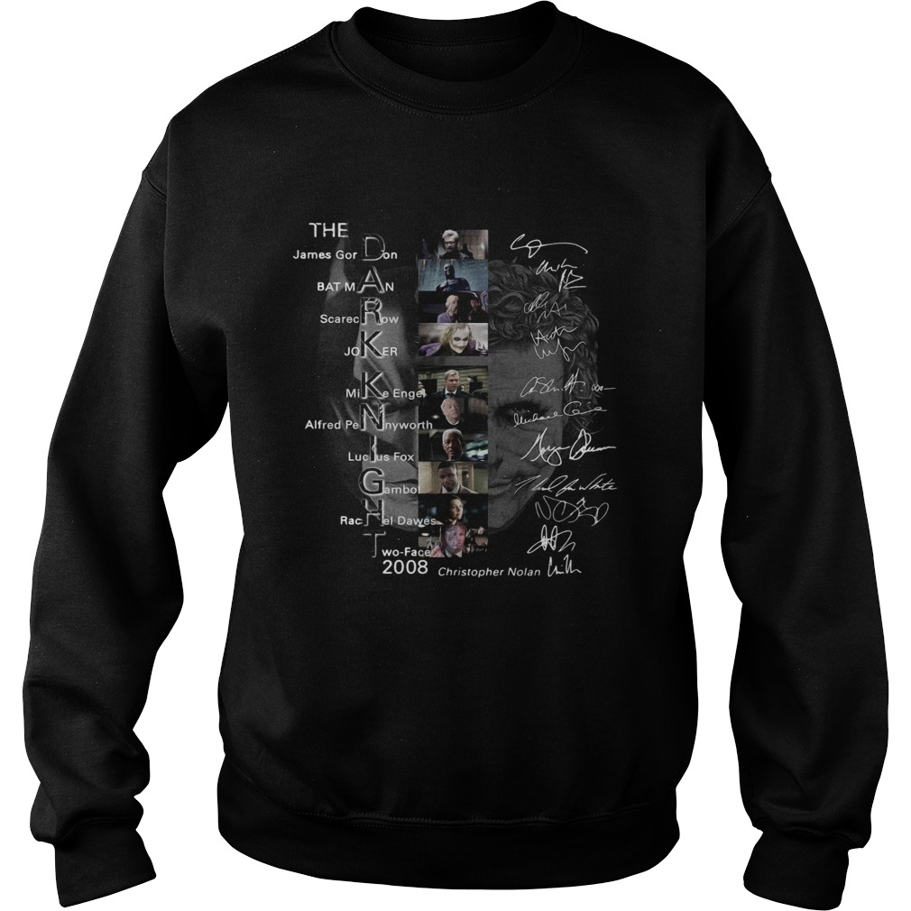 The Dark Knight James Gordon Batman Scarecrow Joker Mike Engel signature  Sweatshirt
