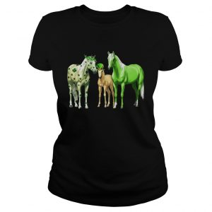 Horses Happy St Patricks Day  Classic Ladies