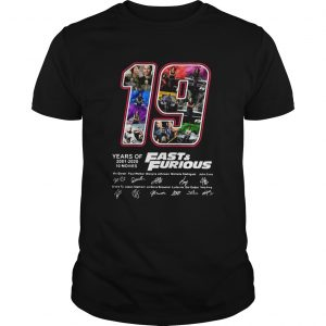 19 Years Of FastFurious 2001 2020 10 Movies Signatures  Unisex