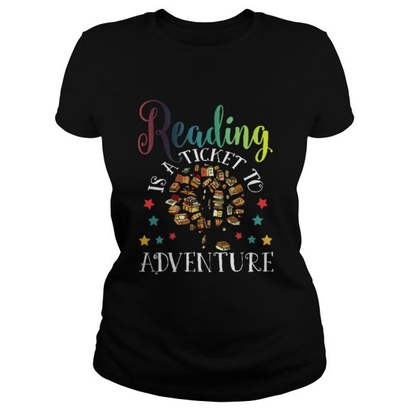 Reading Is A Ticket To Adventure Vintage Reader  Classic Ladies