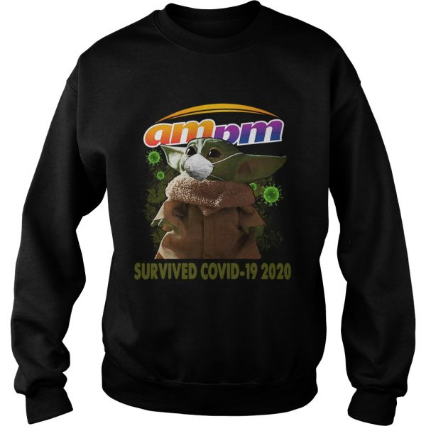 Baby Yoda Am Pm Survived Covid 19 2020  Sweatshirt