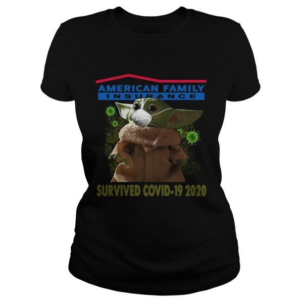 Baby Yoda American Family Insurance Survived Covid 19 2020  Classic Ladies
