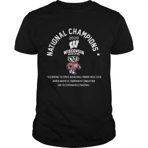 National Champions 2020 Wisconsin Badgers  Unisex