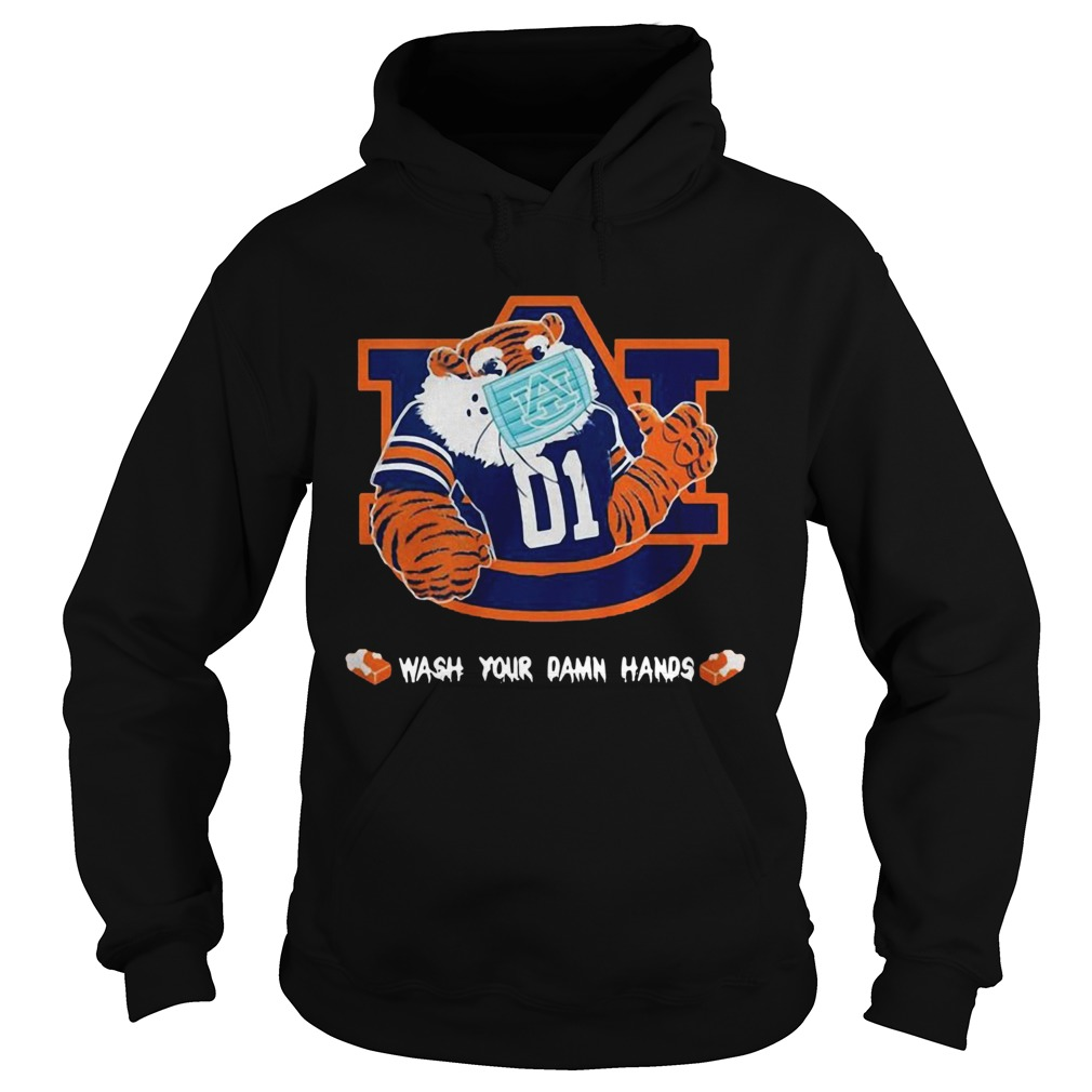 Auburn Tigers Face Mask Wash Your Damn Hands  Hoodie