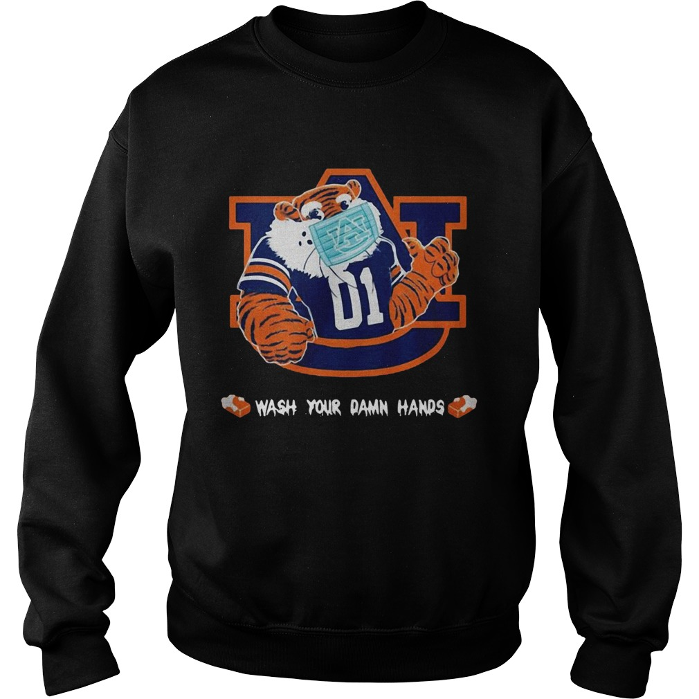 Auburn Tigers Face Mask Wash Your Damn Hands  Sweatshirt