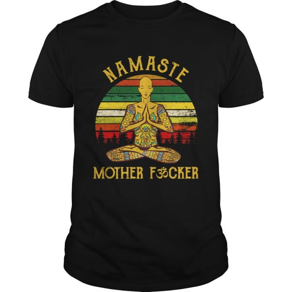 Yoga Man Namaste Mother Fucker Vintage  Unisex