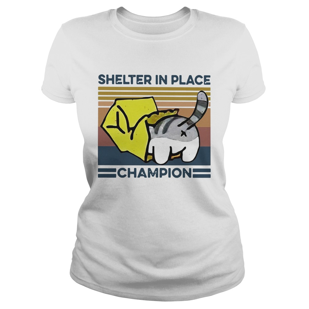 Cat Shelter In Place Champion Vintage  Classic Ladies