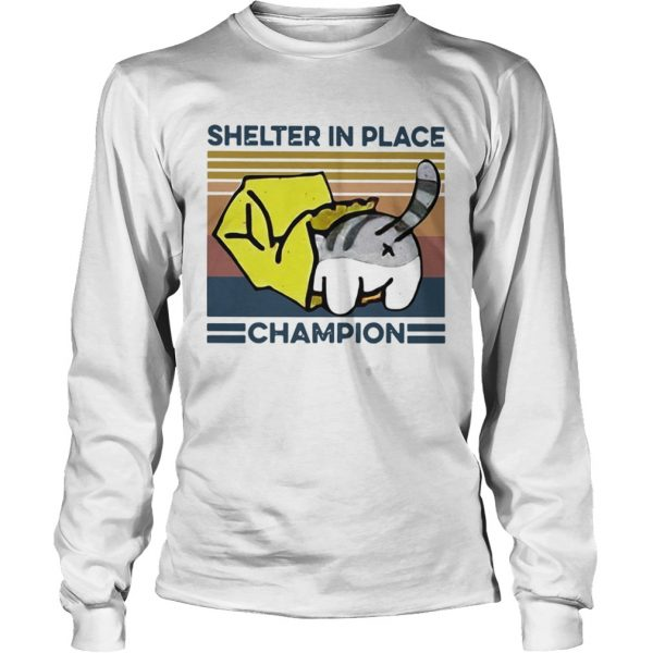 Cat Shelter In Place Champion Vintage  Long Sleeve