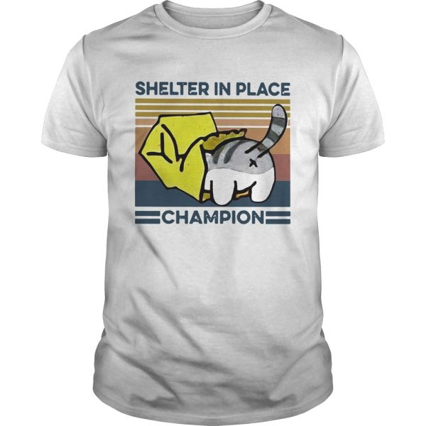 Cat Shelter In Place Champion Vintage  Unisex