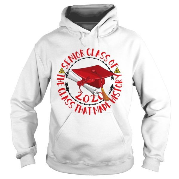 Graduation senior class of 2020 the class that made history red biohazard symbol  Hoodie