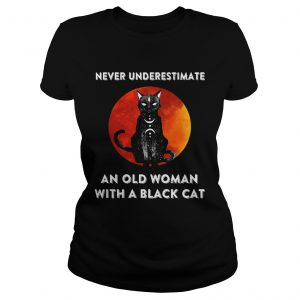 Never Underestimate And Old Woman With A Black Cat Moon  Classic Ladies
