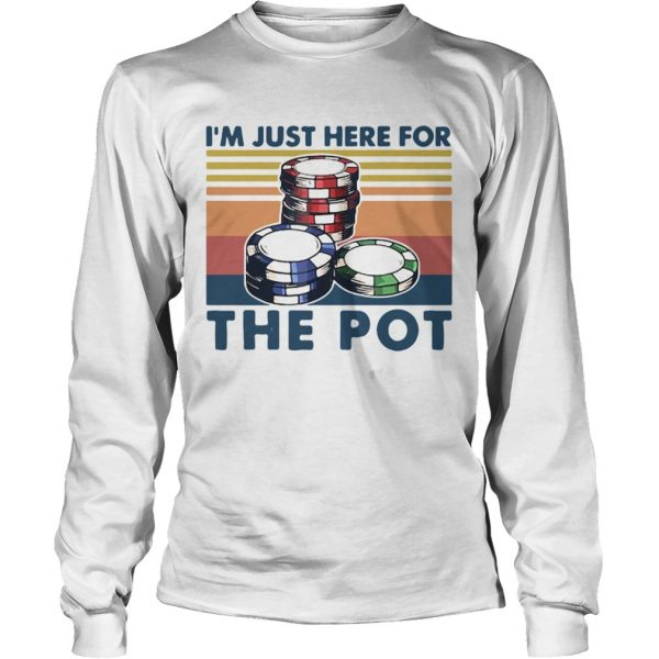 Poker Im Just Here For The Pot Vintage  Long Sleeve