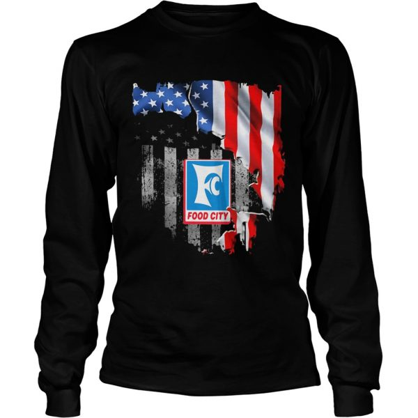Food city american flag independence day  Long Sleeve