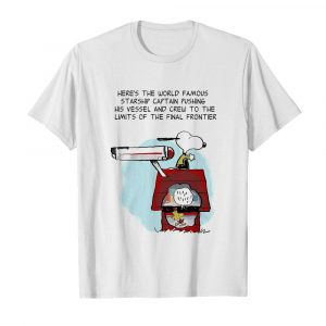 Snoopy home here's the world famous starship captain pushing his vessel and crew to the limits of the final frontier  Classic Men's T-shirt