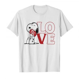 Snoopy hug heart love TSC  Classic Men's T-shirt
