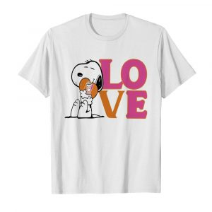 Snoopy hug heart love dunkin donuts  Classic Men's T-shirt