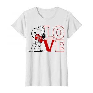 Snoopy hug heart love state farm  Classic Women's T-shirt