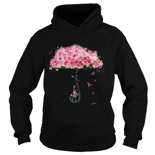 Girl Parasol Rose Never Give Up  Hoodie
