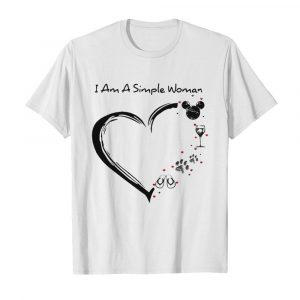 I am a simple woman heart mickey mouse wine paw dog camping  Classic Men's T-shirt