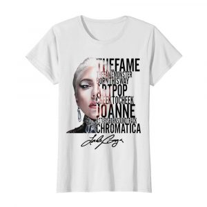 The Fame The Monster Born This Way Artpop Cheek To Cheek Signature  Classic Women's T-shirt
