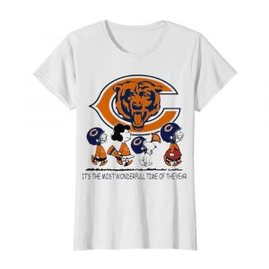 The Peanuts Characters Chicago Bear Its The Most Wonderful Time Of The Year  Classic Women's T-shirt
