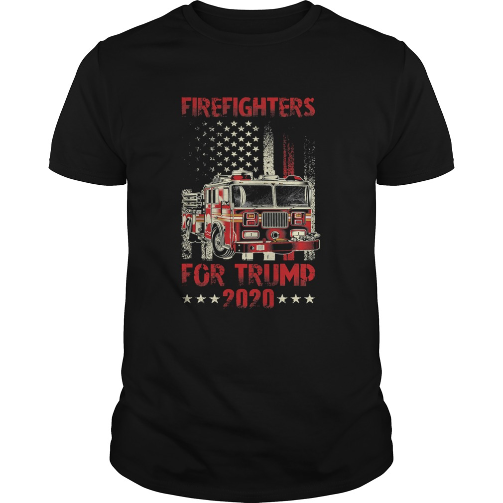 Firefighters For Trump 2020 Fire Truck American Flag  Unisex