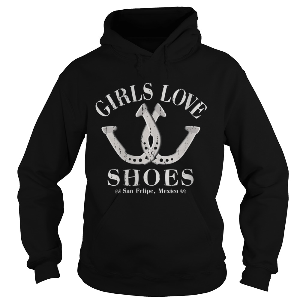 Girls Love Shoes Game of Horseshoe Pitching  Hoodie