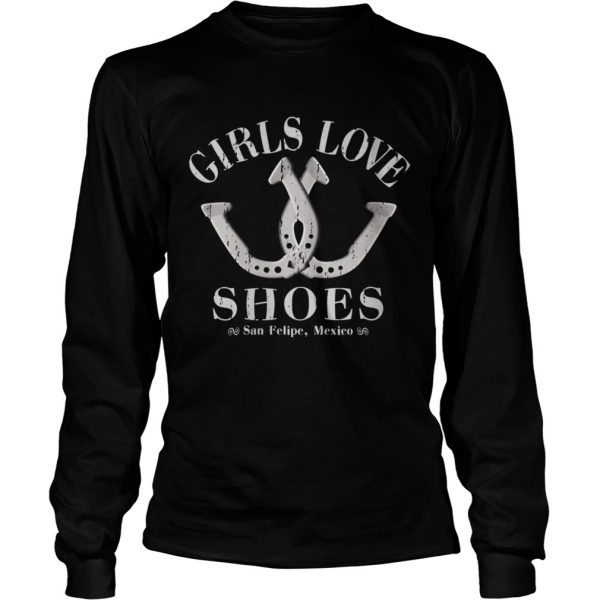 Girls Love Shoes Game of Horseshoe Pitching  Long Sleeve
