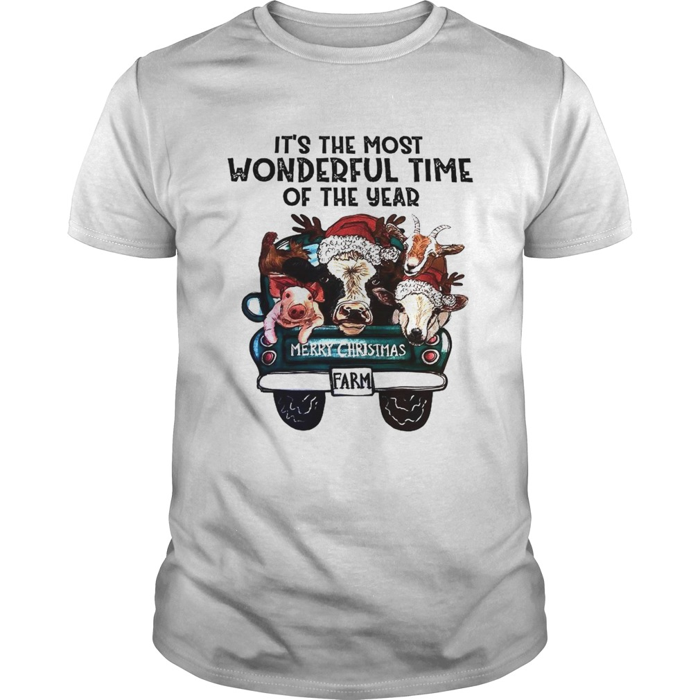 Its The Most Wonderful Time Of The Year Shirt Merry Christmas  Unisex
