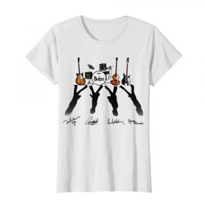 Ludwig The Beatles Band Guitars And Drum Signatures  Classic Women's T-shirt
