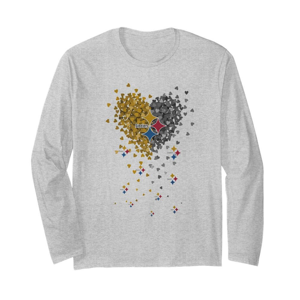 Pittsburgh Steelers Heart  Long Sleeved T-shirt
