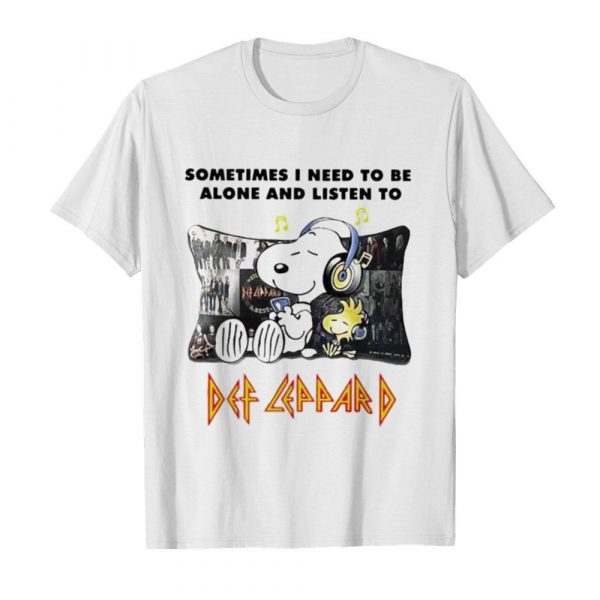 Snoopy Sometimes I need to be alone and listen to Def Leppard  Classic Men's T-shirt