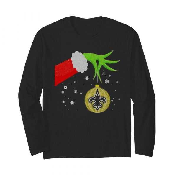 The Grinch Christmas Ornament New Orleans Saints  Long Sleeved T-shirt